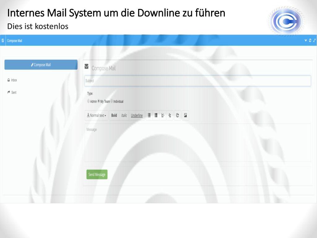 Internes Mail System um die Downline zu führen