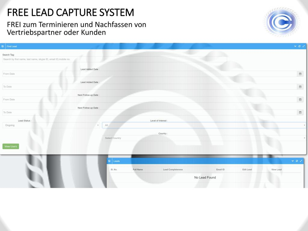 FREE LEAD CAPTURE SYSTEM