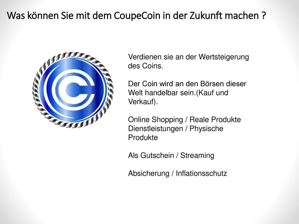 Was können Sie mit dem CoupeCoin in der Zukunft machen