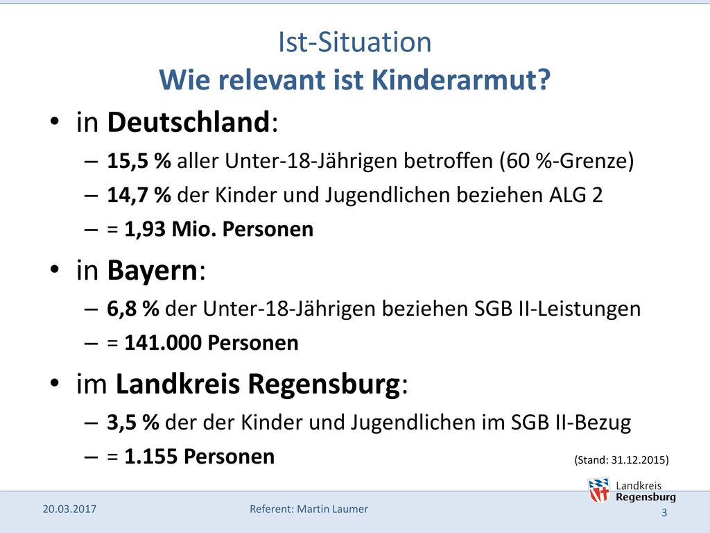Ist-Situation Wie relevant ist Kinderarmut