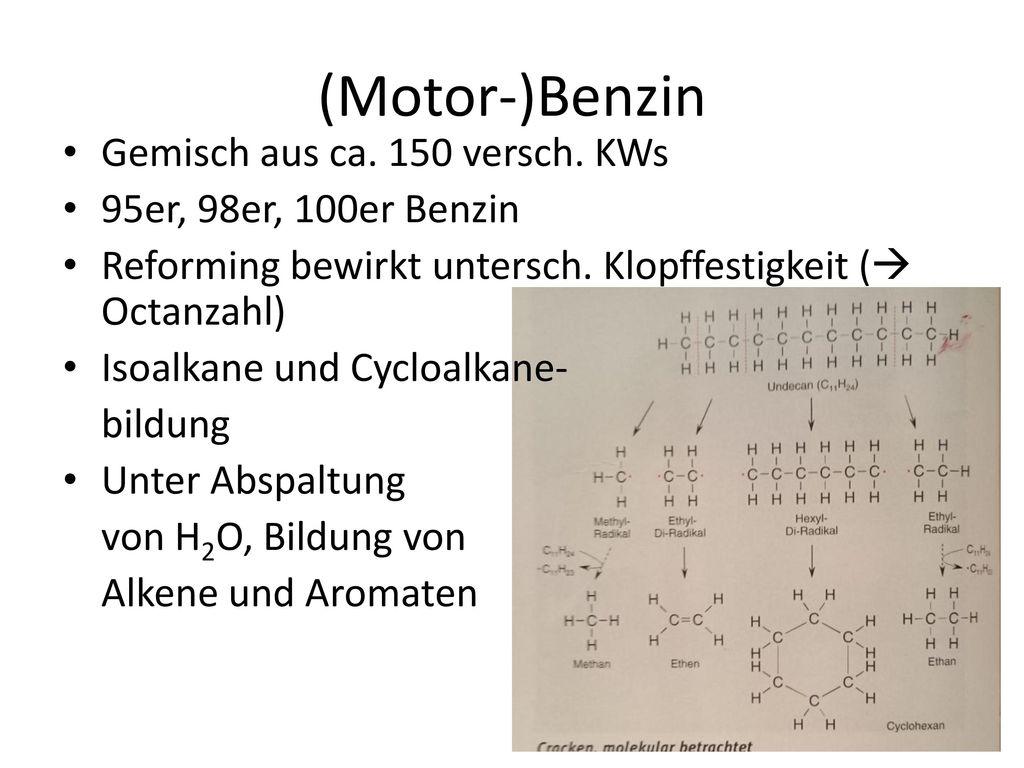 (Motor-)Benzin Gemisch aus ca. 150 versch. KWs