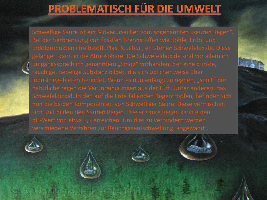 Problematisch für die umwelt