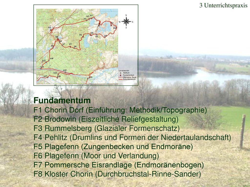 Fundamentum F1 Chorin Dorf (Einführung: Methodik/Topographie)