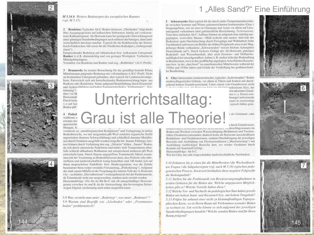 Unterrichtsalltag: Grau ist alle Theorie!