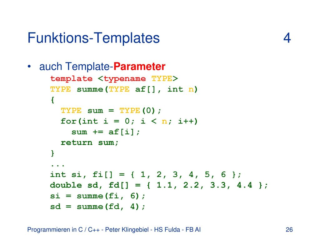 Funktions-Templates 4