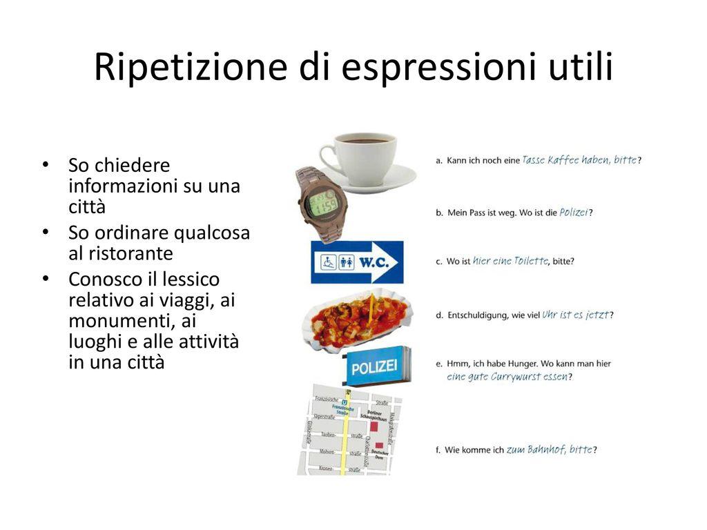 Ripetizione di espressioni utili