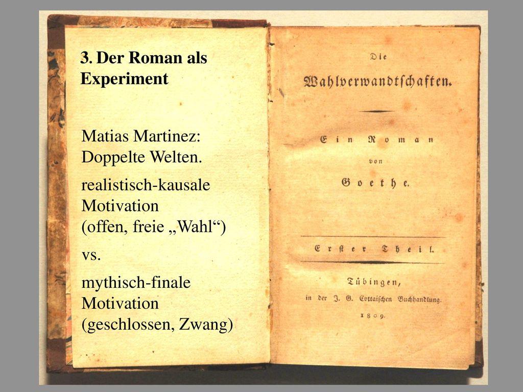 3. Der Roman als Experiment