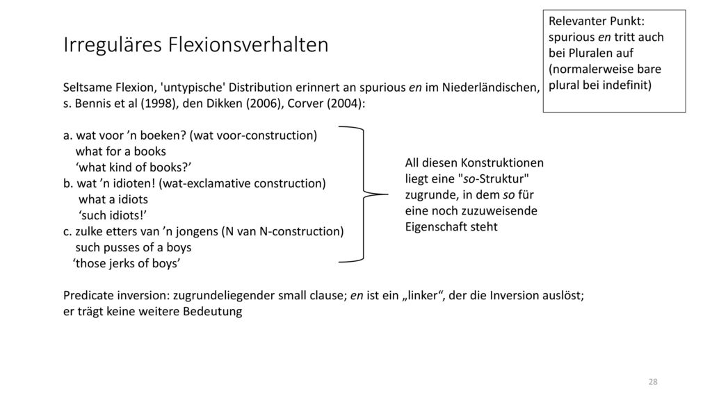 Irreguläres Flexionsverhalten