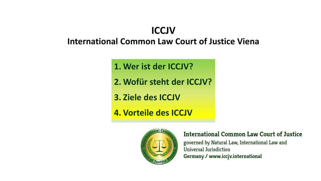 ICCJV International Common Law Court of Justice Viena