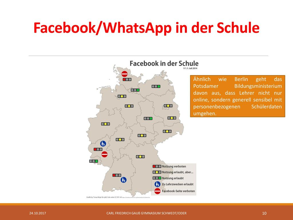 Facebook/WhatsApp in der Schule