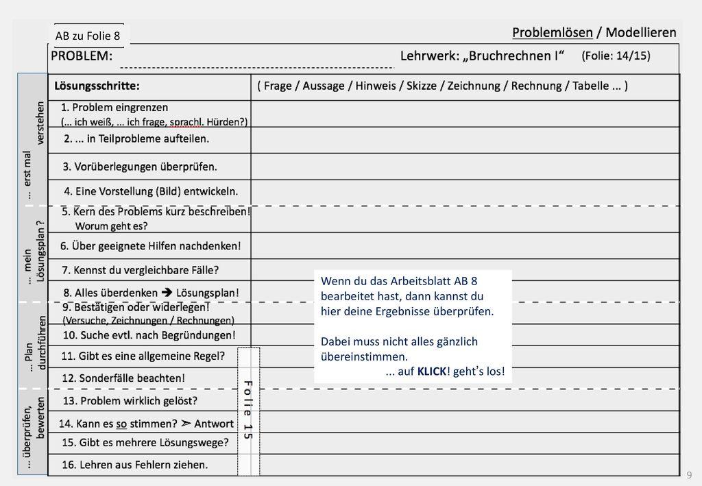 Ausgezeichnet Probleme Anteil Wort Einer Tabelle 6Klasse ...