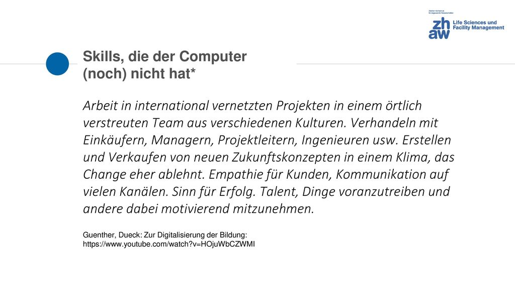 Skills, die der Computer (noch) nicht hat*