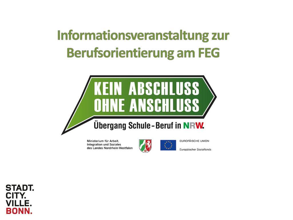 Informationsveranstaltung zur Berufsorientierung am FEG