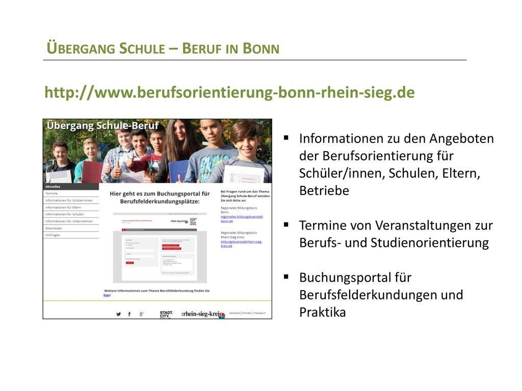 Übergang Schule – Beruf in Bonn