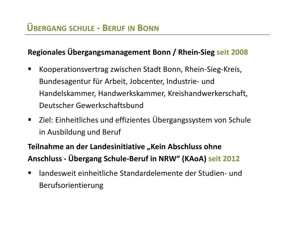 Übergang schule - Beruf in Bonn