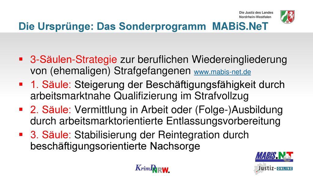 Die Ursprünge: Das Sonderprogramm MABiS.NeT