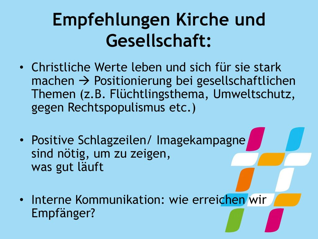 Empfehlungen Kirche und Gesellschaft:
