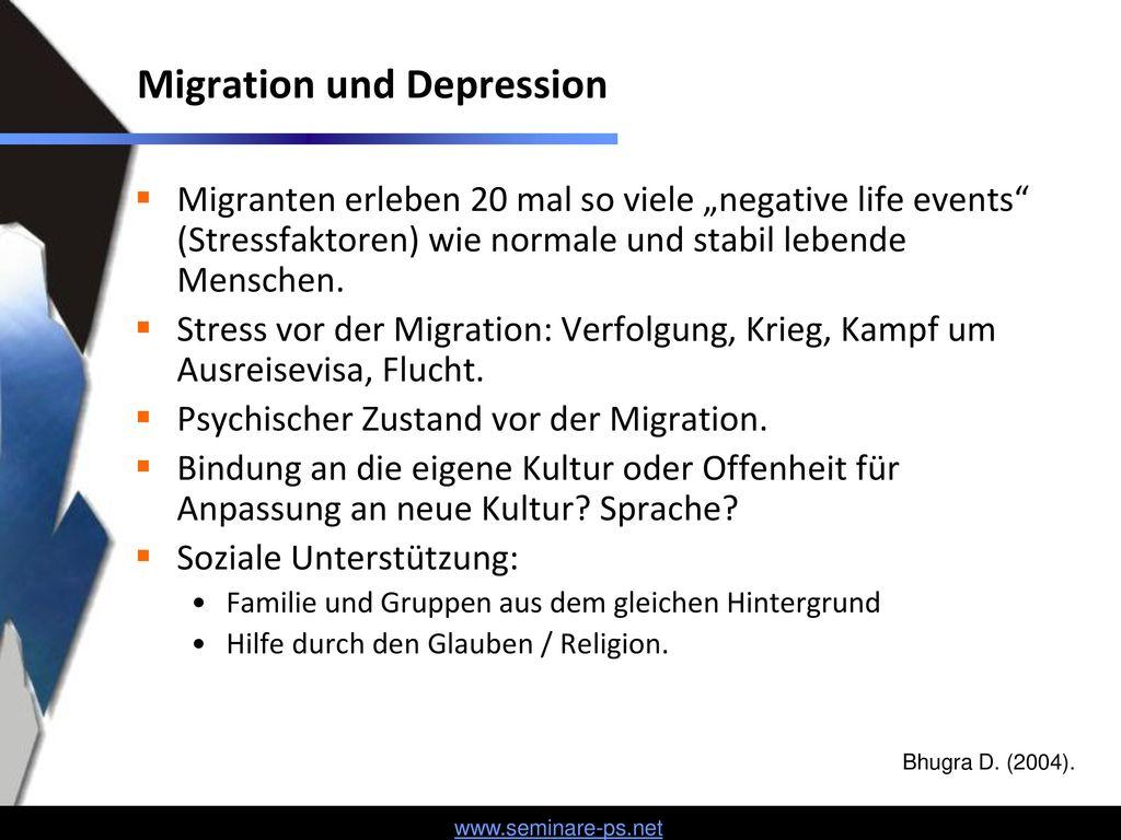 Migration und Depression
