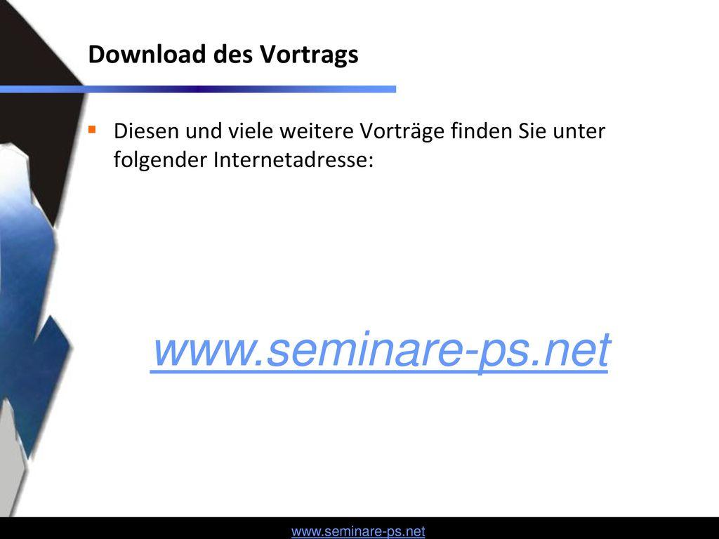 www.seminare-ps.net Download des Vortrags