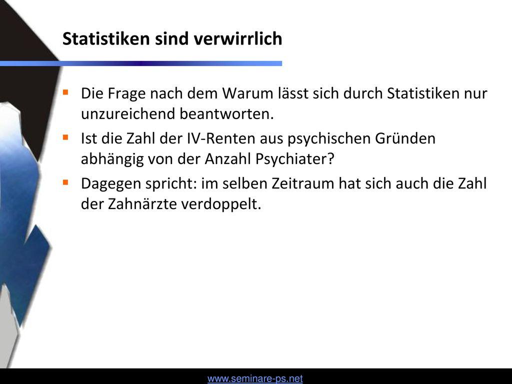 Statistiken sind verwirrlich