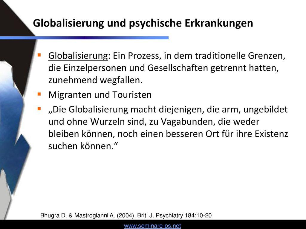 Globalisierung und psychische Erkrankungen