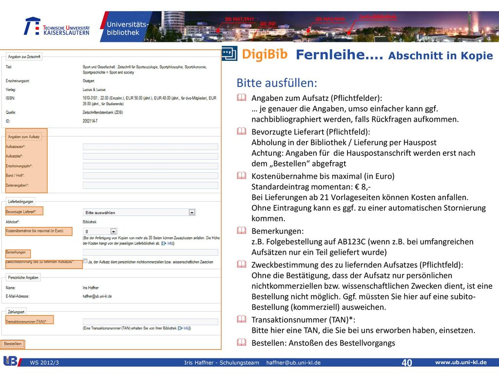 iah - Fit for Study WS 2010/ DigiBib