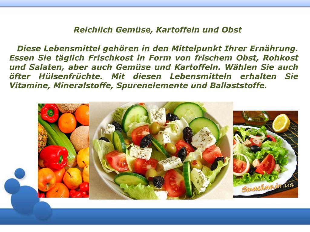 Reichlich Gemüse, Kartoffeln und Obst