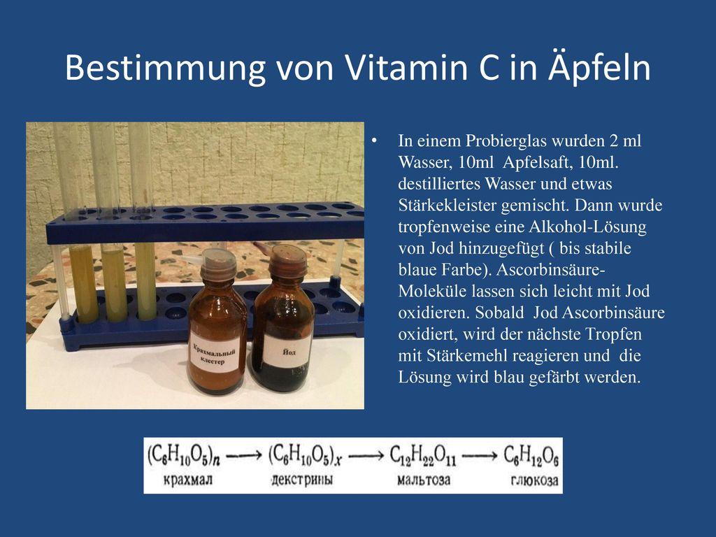 Bestimmung von Vitamin C in Äpfeln