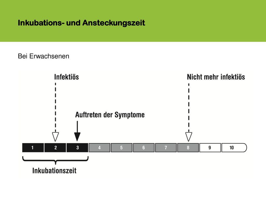 Inkubations- und Ansteckungszeit