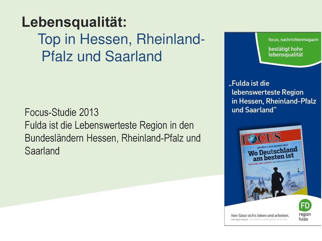 Lebensqualität: Top in Hessen, Rheinland- Pfalz und Saarland