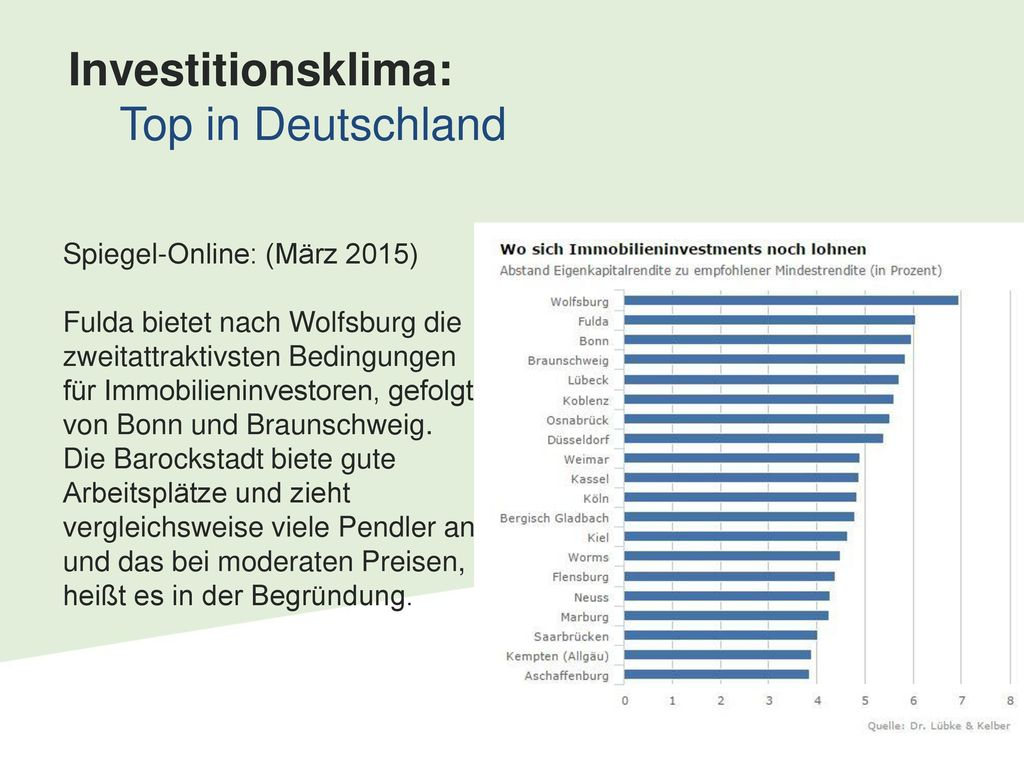 Investitionsklima: Top in Deutschland