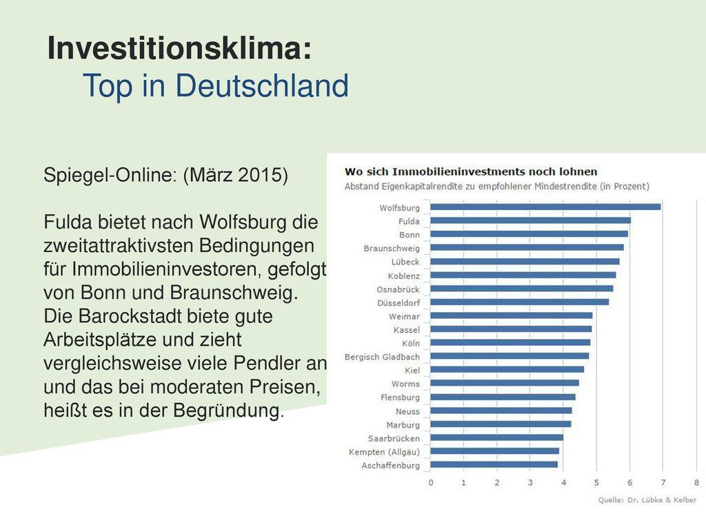 Investitionsklima: Top in Deutschland