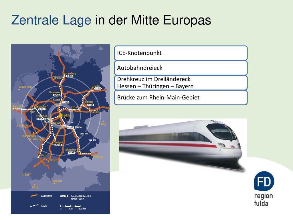 Zentrale Lage in der Mitte Europas