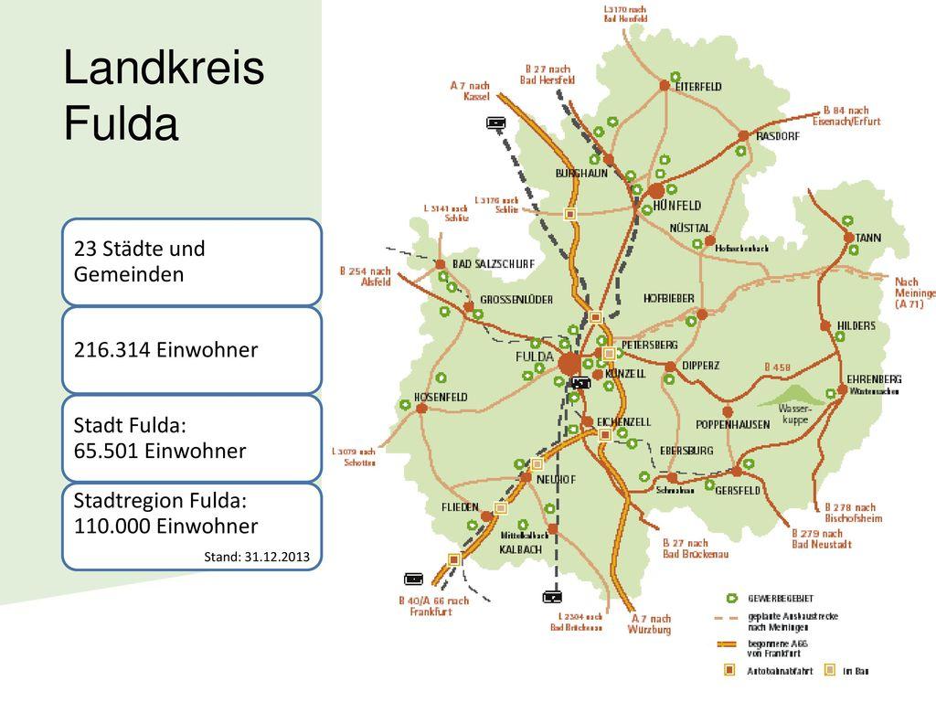 Landkreis Fulda 23 Städte und Gemeinden 216.314 Einwohner