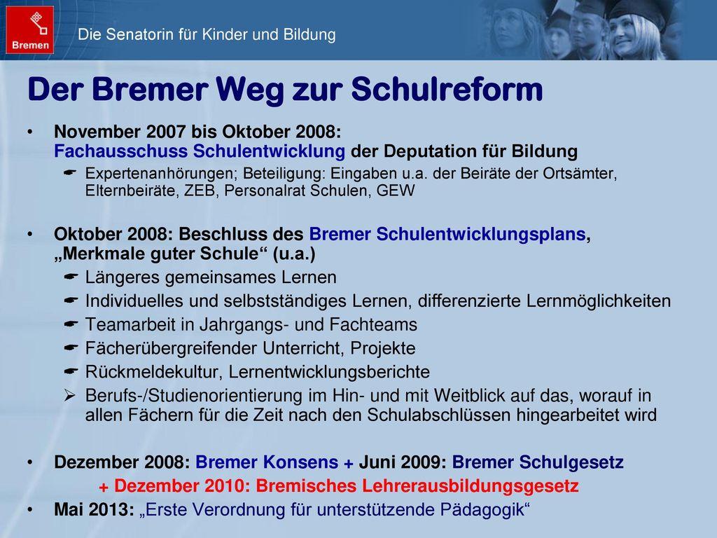 Der Bremer Weg zur Schulreform