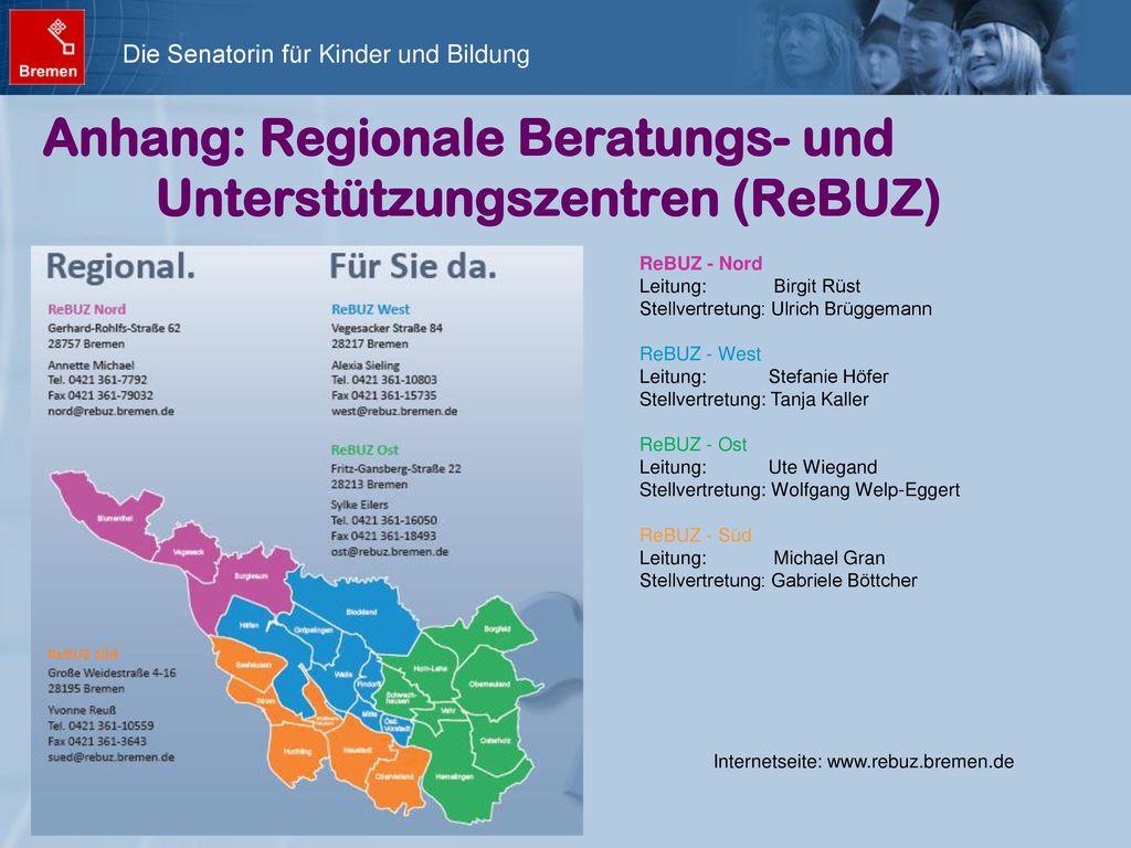 Anhang: Regionale Beratungs- und Unterstützungszentren (ReBUZ)