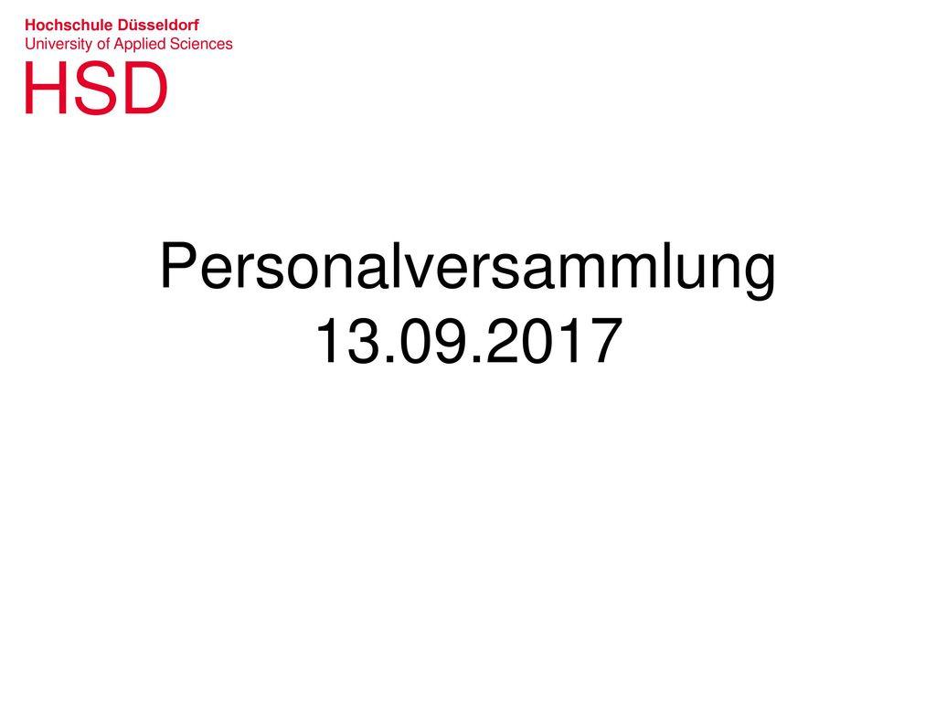 Personalversammlung 13.09.2017