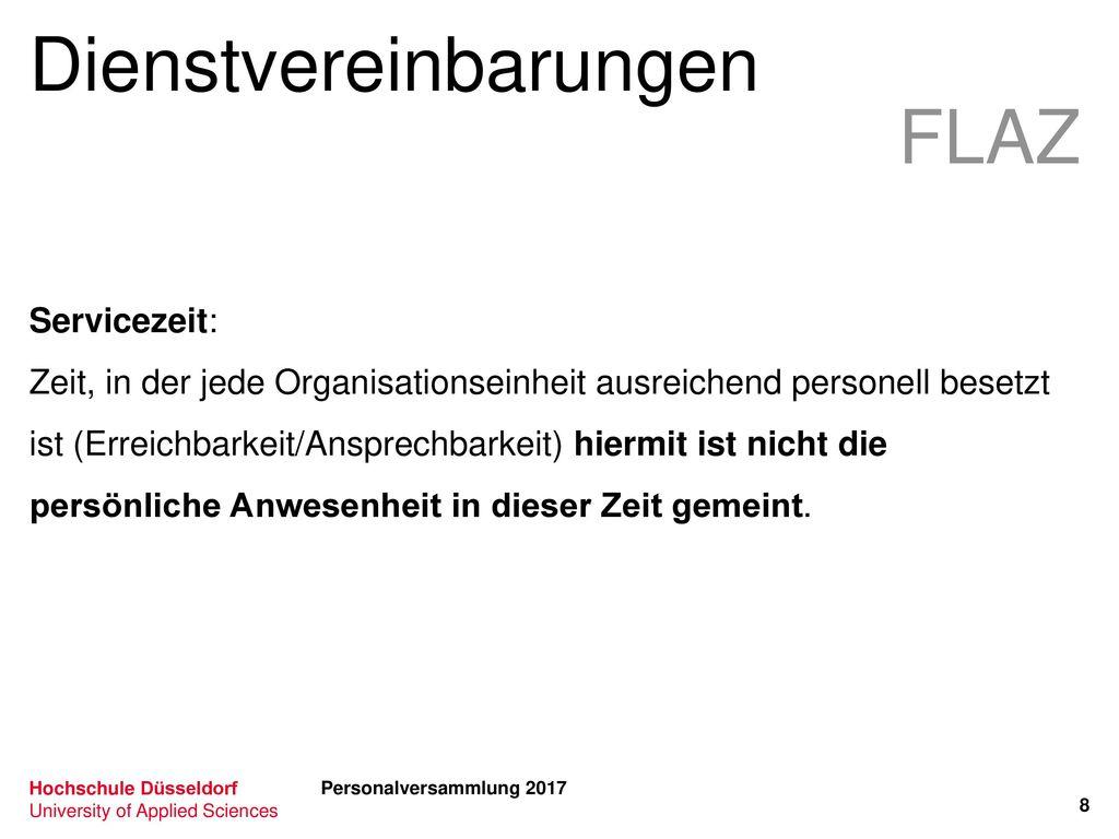 Dienstvereinbarungen FLAZ