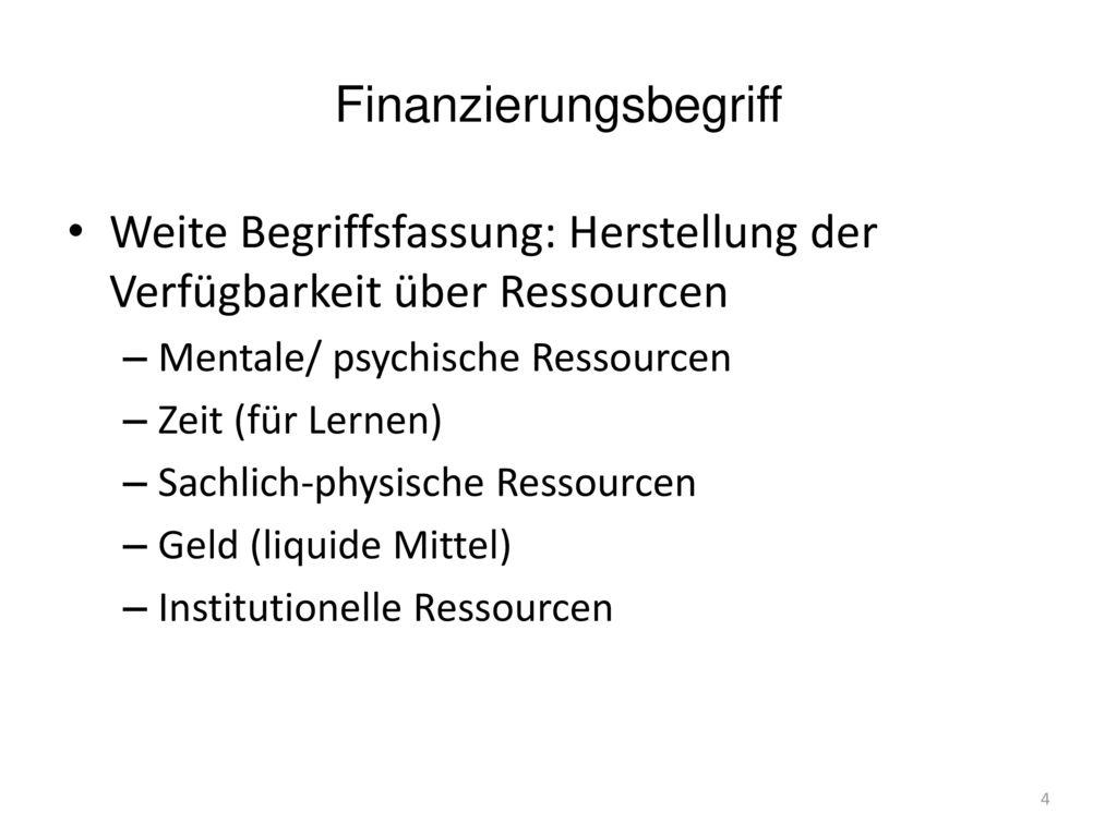 Finanzierungsbegriff