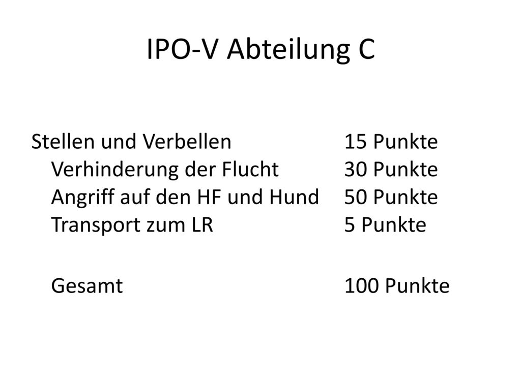IPO-V Abteilung C