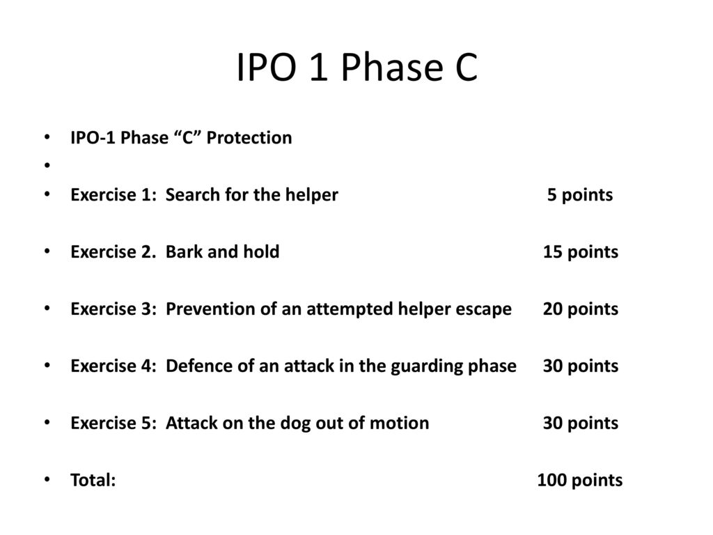 IPO 1 Phase C IPO-1 Phase C Protection