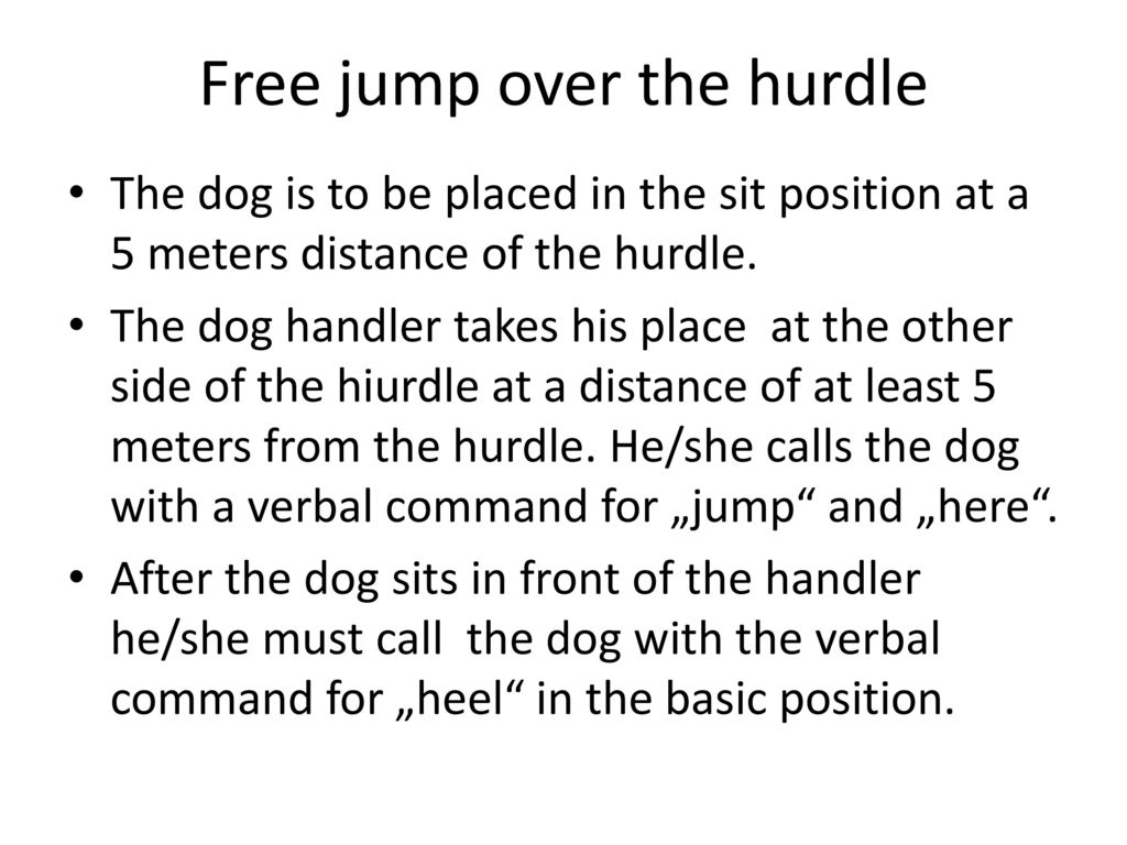Free jump over the hurdle