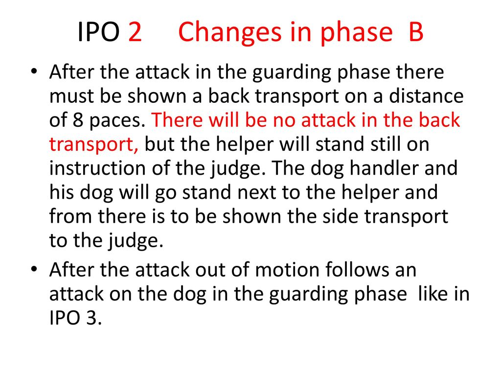 IPO 2 Changes in phase B
