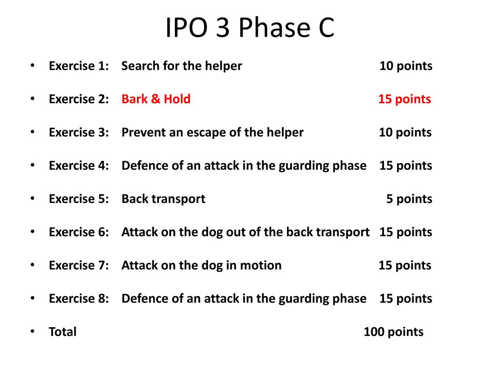 IPO 3 Phase C Exercise 1: Search for the helper 10 points