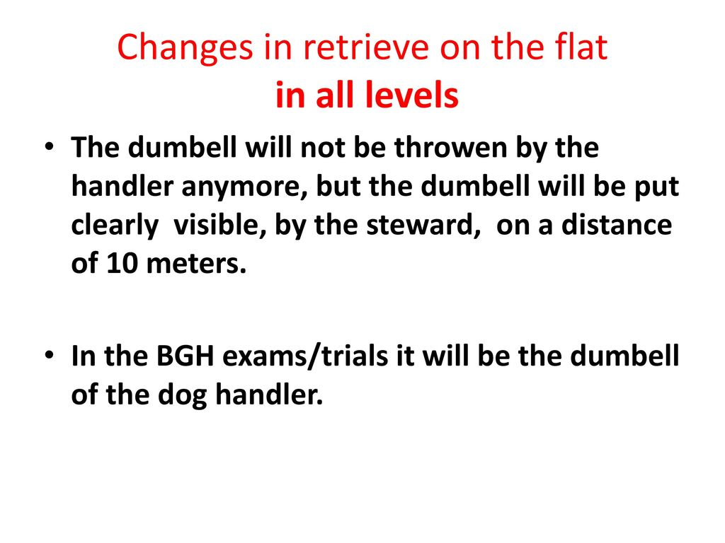 Changes in retrieve on the flat in all levels