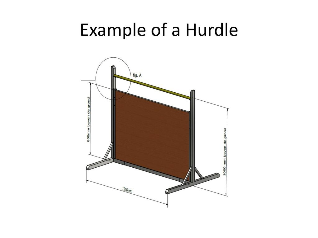 Example of a Hurdle