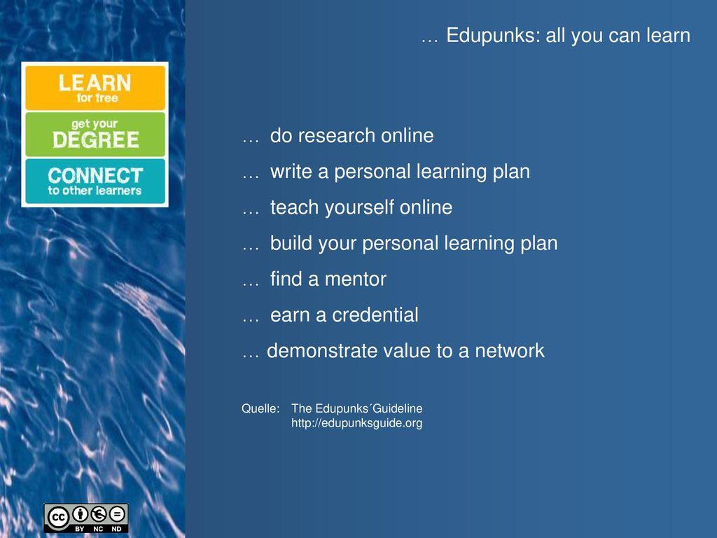 … Edupunks: all you can learn