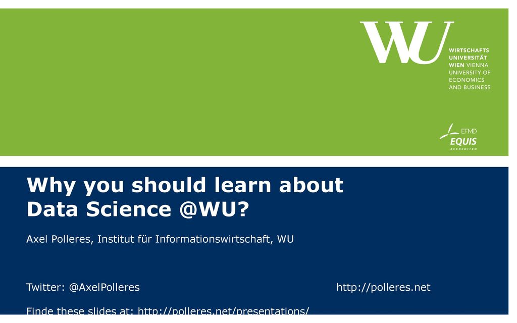 Why you should learn about Data Science @WU