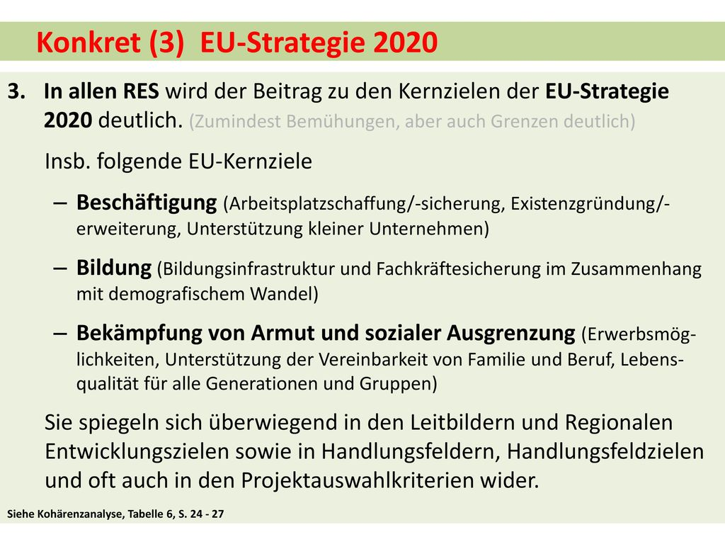 Konkret (3) EU-Strategie 2020