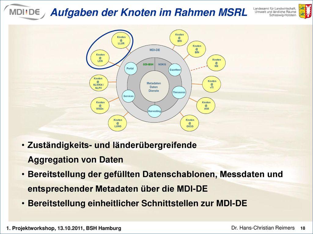 Aufgaben der Knoten im Rahmen MSRL
